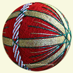 Christmas Ribbons Temari Ball